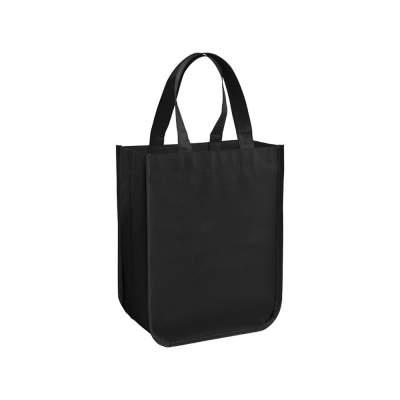 Маленькая ламинированная сумка для покупок, черный