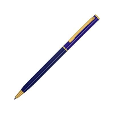Ручка шариковая Жако с серебристой подложкой, темно-синий