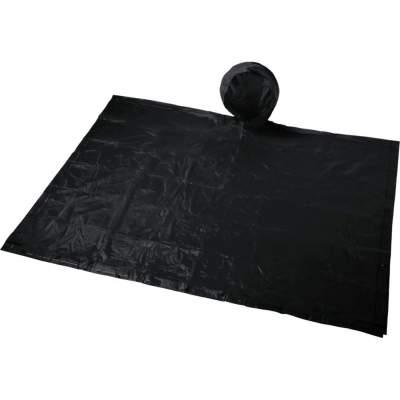Складывающийся полиэтиленовый дождевик Paulus в сумке, черный