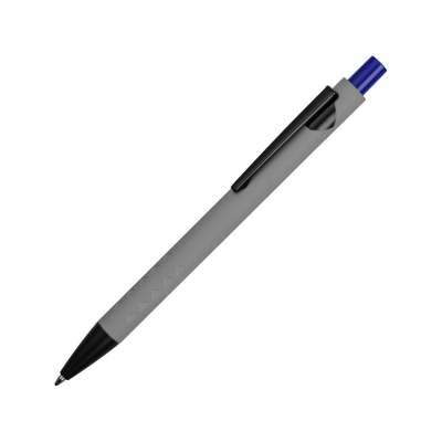 Ручка металлическая soft-touch шариковая Snap, серый/черный/синий