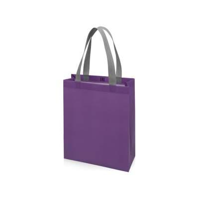 Сумка для шопинга Utility ламинированная, фиолетовый, матовый