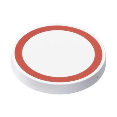 Устройство для беспроводной зарядки, белый/красный