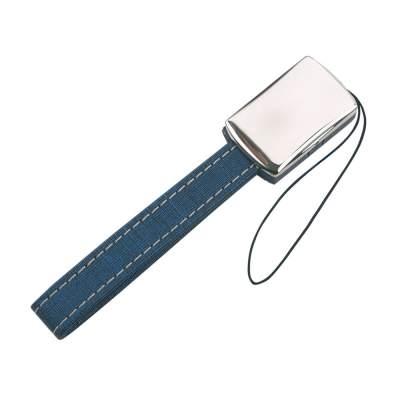 Подвеска для мобильного телефона с отделением для хранения SIM-карт, синий/серебристый