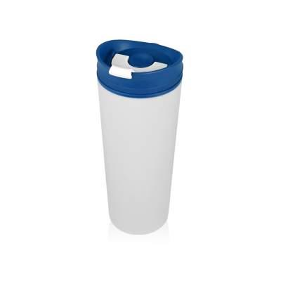 Термокружка Brite 500мл, белый/синий