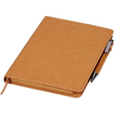 Набор из шариковой ручки и блокнота Celuk, коричневый