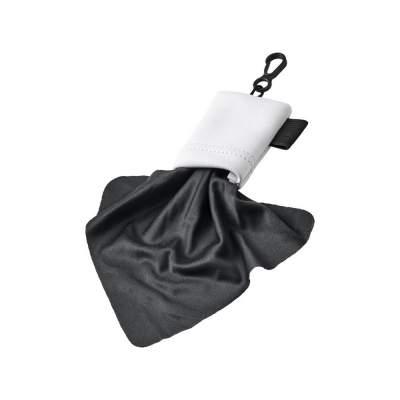 Очищающая салфетка Clear из микрофибры в чехле, черный