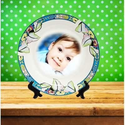 Керамическая тарелка с фотографией