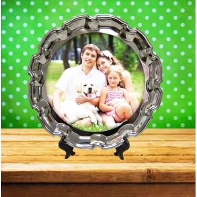 Металлическая тарелка с фотопечатью