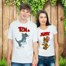 """Парные футболки """"Том и Джери"""""""