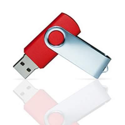 Флешка PVC001 (красный 186 c) с чипом 4 гб
