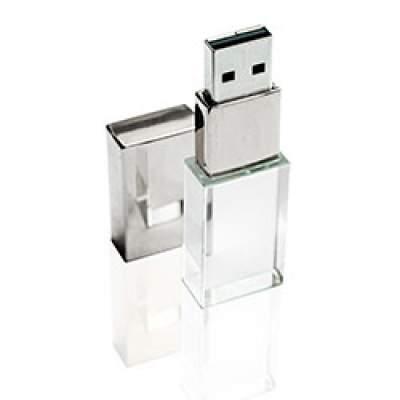Флешка ST001 (глянец) с чипом 16 гб с белой подсветкой