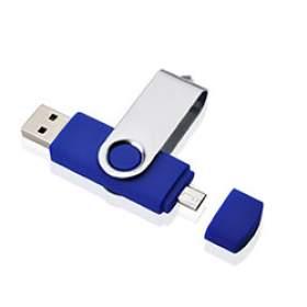 Флешка OTG001 (синий) с чипом 8 гб