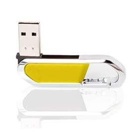 Флешка PM027 (желтый) с чипом 4 гб