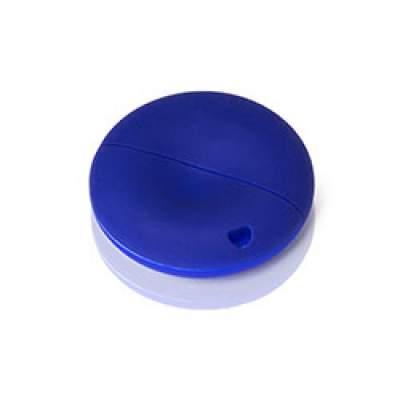 Флешка PL056,soft (синий) с чипом 4 гб