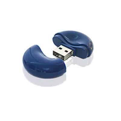 Флешка PL056 (синий) с чипом 4 гб