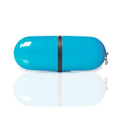 Флешка PL004 (голубой) с чипом 4 гб