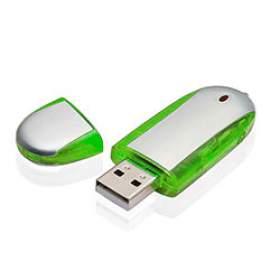 Флешка PM004 (зеленый) с чипом 4 гб