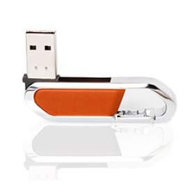 Флешка PM027 (оранжевый) с чипом 16 гб