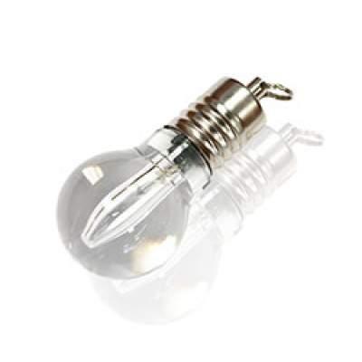 Флешка ST005 (серебро) с чипом 16 гб с белой подсветкой