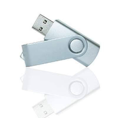 Флешка PM001 (серебро) с чипом 4 гб