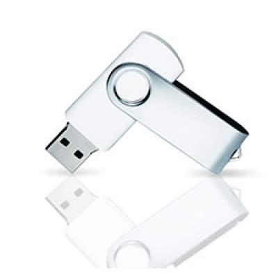 Флешка PVC001 (белый) с чипом 4 гб