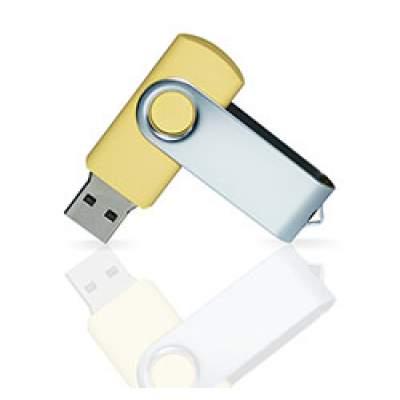 Флешка PVC001 (желтый 120 c) с чипом 4 гб