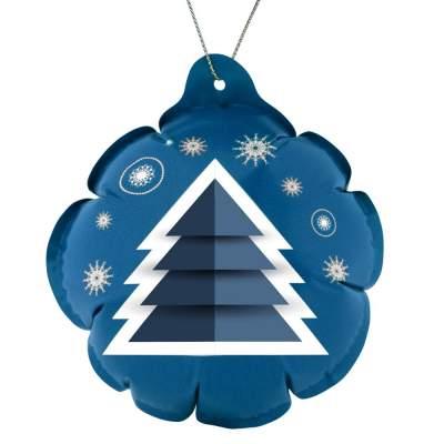Самонадувающийся новогодний шарик с логотипом