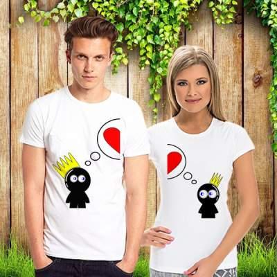 Парные футболки Думаем о любви