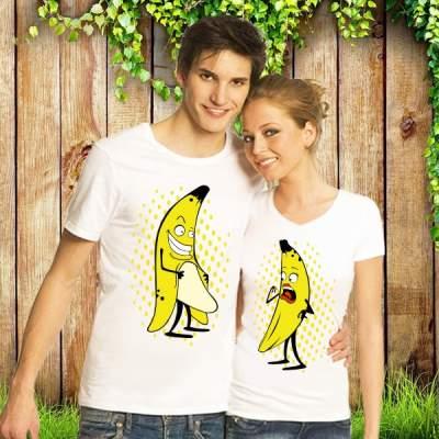 Парные футболки Игривые бананчики