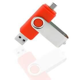 Флешка OTG001 (красный) с чипом 8 гб